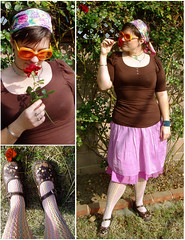 Daily Outfit 3/18/07 (missmarybee) Tags: orange sunglasses wardroberemix lavender maryjanes dailyoutfit