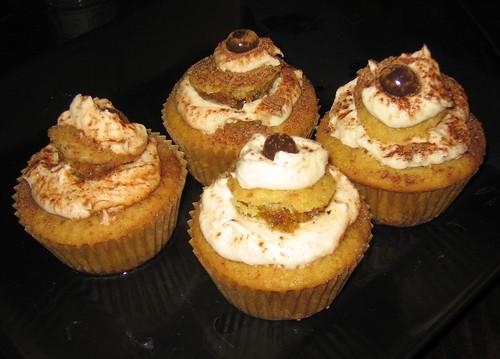 Tiramisu Cupcakes on Plate