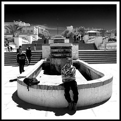 Boy sitting on the edge of an empty fountain, Asmara, Eritrea (Eric Lafforgue) Tags: africa black building fountain smile architecture stairs child explore fontaine asmara eritrea escaliers eastafrica aoi eritreo erytrea lafforgue erythre erythree asmera eritreia  ericlafforgue ertra    eritre eritreja eritria wwwericlafforguecom  rythre africaorientaleitaliana     eritre eritrja  eritreya  erythraa erytreja