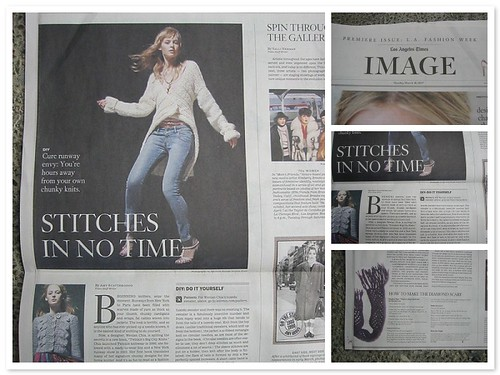 the premiere LA Times Image section, featuring free knitting patterns