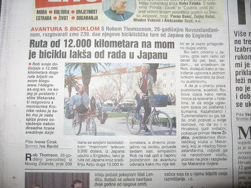 In the news again (Makarska, Croatia)