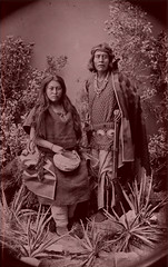 1887 Navajo Gayetenito and Malia - Ben Wittick - colorized (Lynn (Gracie's mom)) Tags: photoshop vintage antique apb indians antiques navajo americanindians navaho cammiangel blackribbonbeauty whoisthatwhoami apboutique