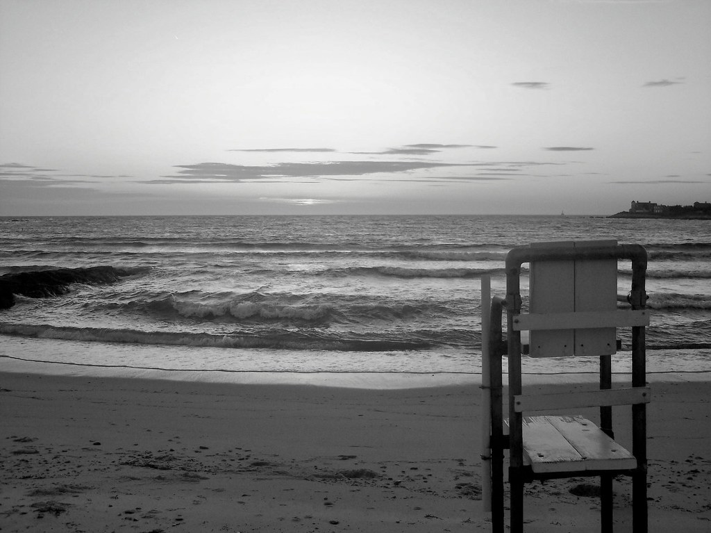 beach black and white