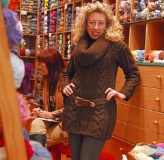 Brown Alpaka by Pepy (sifis) Tags: wool shop sweater nikon knitting long dress knit athens yarn greece cables d200 pullover handknitting tunic yarnshop alpaka sakalak