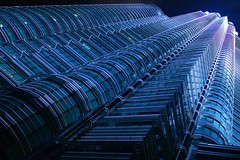 Modern Architecture...Kuala Lumpur (abdhakamabdah...) Tags: blue abstract building texture architecture modern pattern nightshot malaysia kualalumpur klcc blueribbonwinner petronastwintower pentaxistdl kualalumpurcitycentre