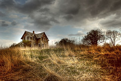 house on a hill (spear of the nation) Tags: wisconsin interestingness hill stormy explore vacant hauntedhouse blueribbonwinner