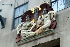 NYC - Rockefeller Center: 636 Fifth Avenue - Commerce and Industry with a Caduceus by wallyg, on Flickr