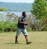 Happy Man On a Mission (mikecogh) Tags: vanuatu espiritusanto steeve happy purpose striding sea coast island aore
