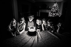 Thirteen candles. (aamith) Tags: portrait portraits makeportraits kids birthday candles candlelight bokeh 24mm sigmaart sigma