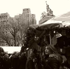 Columbus Circle Christmas Market (sjnnyny) Tags: nylife shoppers sightsee craftsfairchristmasmarket holidaymarket manhattanstreet sigma1835mmf18dchsmart pentaxk5iis people 59thstreet centralparkwestluxeapartmentbuildingstonedmono columbuscircle midtownmanhattan candid