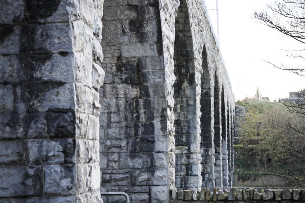 The Nine Arches viaduct in Milltown
