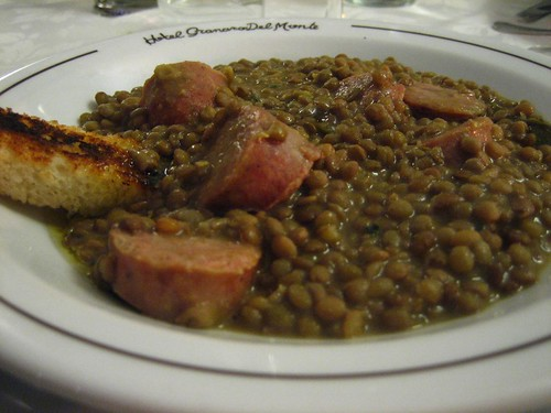 Lentils and Sausage