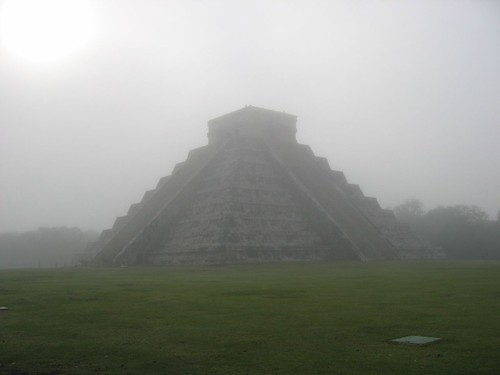 Pyramid in the mist