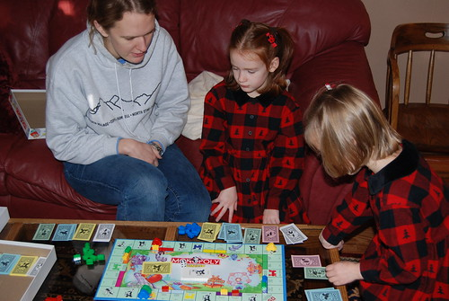 A game of Monopoly Jr.