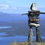 Cairn on Njuolja, Abisko, Swedish Lappland