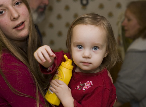 Ali and Elaina, and Her Favorite Mustard Bottle
