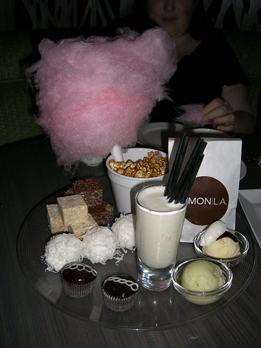 Junk food dessert platter at Simon LA