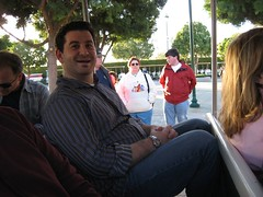 Scott on the Disneyland tram. (12/03/06)