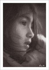 Frothy Beauty (Robert Lio) Tags: portrait bw beauty greek child 5 profile daughter chinese robertlio guaylin
