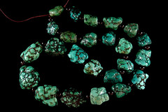 Antique Tibetan Turquoise Beads (James Wainwright) Tags: asian necklace beads antique turquoise tibet tibetan himalayan challengeyouwinner collectiblebeads tibetanshop realturquoise garudatrading antiqueturquoise oldtibetanturquoise antiqueturquoisebeads