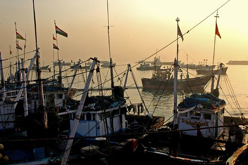 The Sun rises over the Fishing Boats at Ferry Warf