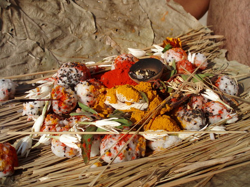 Zoom on the pooja (puja) content