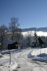 Voisinage (BlandineB) Tags: winter snow neige combloux