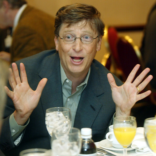 World Economic Forum 拍攝的 Bill Gates - World Economic Forum Annual Meeting New York 2002。
