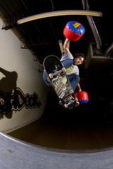 Aaron - kickflip to fakie - Mike Tyson styles (Brian Garson) Tags: city urban ontario canada sports sport photography photo photographer skateboarding action brian ottawa extreme aaron mini ollie skatepark skate skateboard tomas grind ondeck strobe kickflip strobes 613 fakie garson briangarson