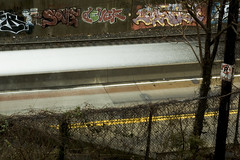 Busway Graffiti (Matt Niemi) Tags: longexposure graffiti busway pittsburgh shadyside soviet dever