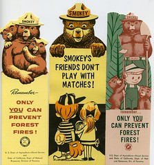 Smokey the Bear bookmarks