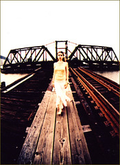 M.L. 12.pu (romasteel) Tags: railroad bridge blur color girl scary ghost saturation malice top20xpro top20railroad