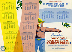 1959 Smokey the Bear Calendar