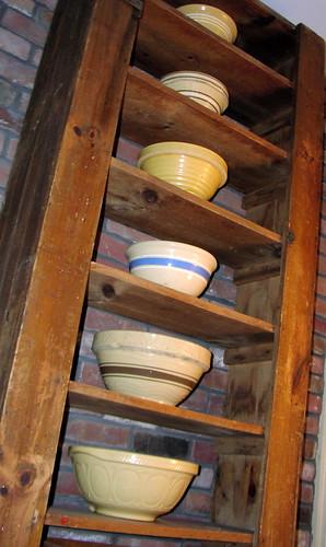 yellow-ware bowls