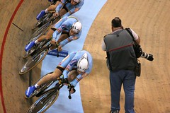 Intermission: Close Up (jkoshi) Tags: bicycle carson track fixedgear velodrome koshi jkoshi adtcenter homedepotcenter 2007uciworldcup