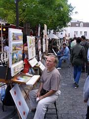 Painters at Montmartre (Crt Ahlin) Tags: travel paris france pariz