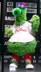 The Phillie Phanatic at the Baseball Hall of Fame