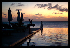One more dive tonight (wili_hybrid) Tags: ocean trip travel winter sunset vacation people holiday pool geotagged outside outdoors photo yahoo kid nikon flickr exterior photos outdoor infinity january picture pic journey wikipedia d200 maldives geotag humans 2007 anantara nikond200 year2007