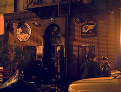 hells angels HQ (lchance) Tags: nyc eastvillage night police nypd angels gothamist hells hellsangels