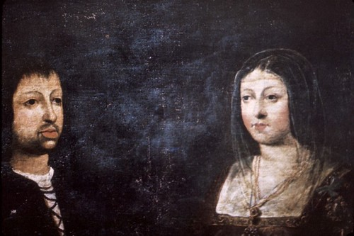 1469 wedding portrait of Ferdinand and Isabella