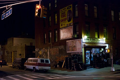 Luna's Tire Shop (Daniel Krieger Photography) Tags: nyc delete10 brooklyn night delete9 delete5 delete2 delete6 delete7 delete8 delete3 delete delete4 save save2 wwwdanielkriegercom