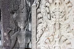 Angkor Wat apsara carvings