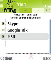 MSN on fring voip application