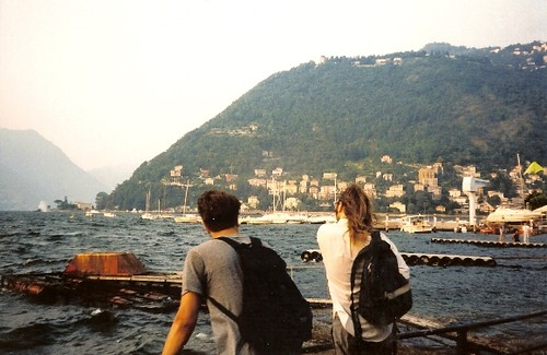 Eric and Dave view Lake Como in Italy