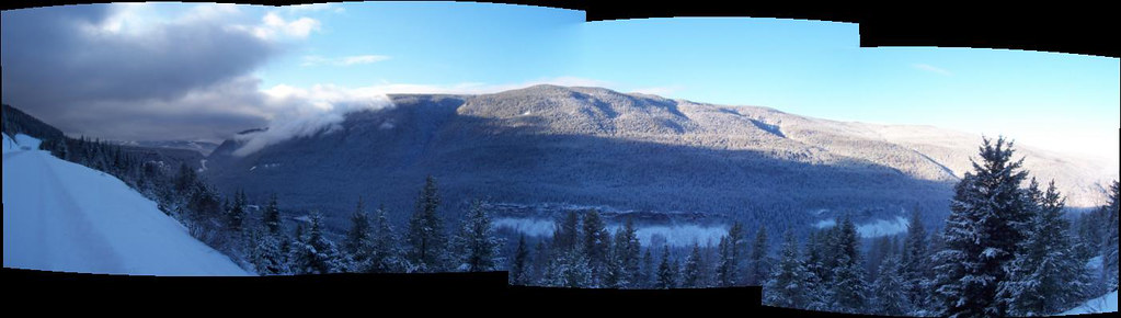 Panorama from Wells Gray Park, BC, Canada