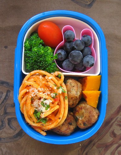 Speedy spaghetti lunch for toddler お弁当