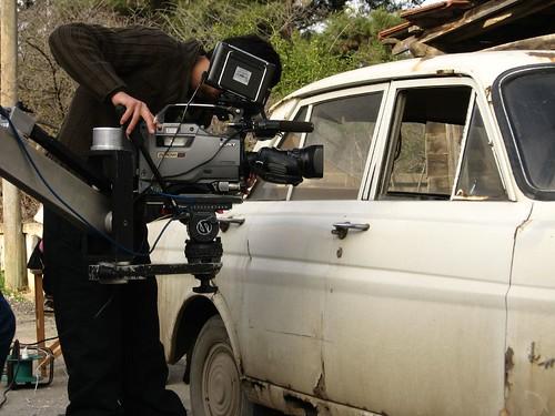 Filming a drama in Sahilkoy, Turkey