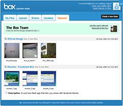 Box.net : 新 UI のプレビュー版