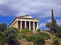 Greece '06 (145) (vic_con) Tags: blue trees green clouds landscape bush greece