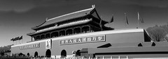 gate of heavenly peace (davidhartstone) Tags: china bw autostitch panorama beijing panoramic peking fauxinfrared